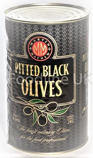 WHOLE BLACK OLIVES PITTED 4200 G