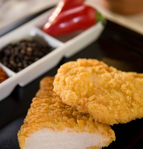 CHICKEN FILLET BURGER HOT & SPICY DELTA FOODS 16 X 120 G