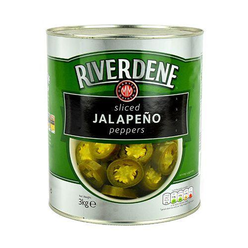 RIVERDENE SLICED JALAPENO PEPPERS 3 KG