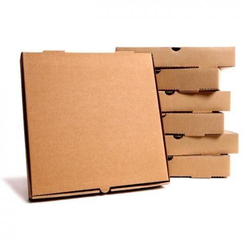 "12"" PLAIN BROWN PIZZA BOX"