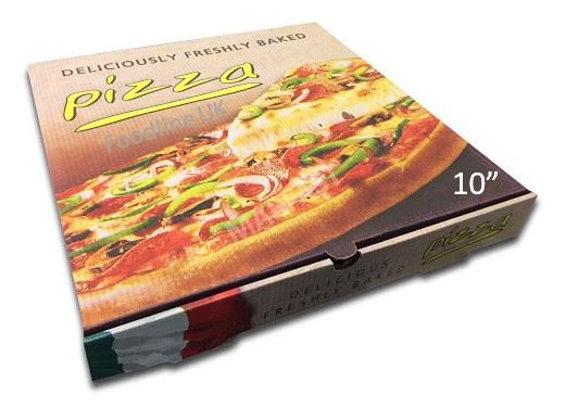 CLASSSIC 10'' PIZZA BOX BOX FULL COLOUR  (100)
